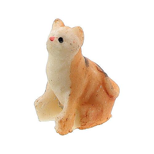 Katze aus Harz für Krippe verschiedene Modelle, 8-10 cm 2