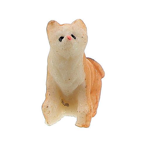 Katze aus Harz für Krippe verschiedene Modelle, 8-10 cm 4