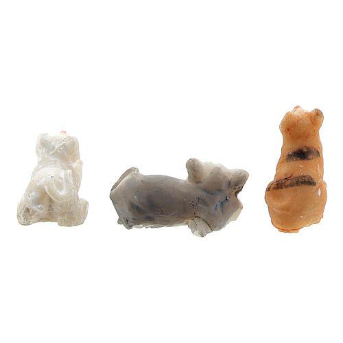 Katze aus Harz für Krippe verschiedene Modelle, 8-10 cm 5