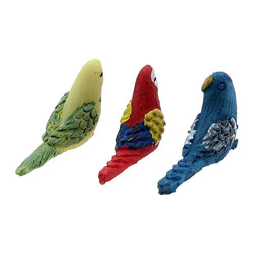 Vogel aus Harz für Krippe verschiedene Modelle, 8-10-12 cm 4