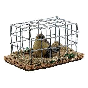 Vogel in Käfig aus Harz für Krippe verschiedene Modelle, 8-10-12 cm s2