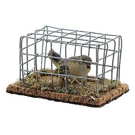 Vogel in Käfig aus Harz für Krippe verschiedene Modelle, 8-10-12 cm s3