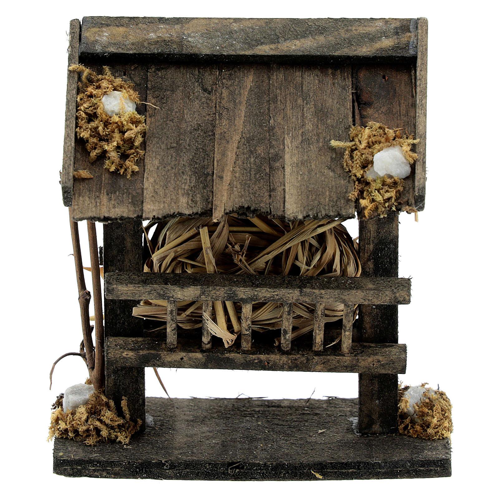 Comedero madera pajizo 10x5x10 belén 14-16 cm 3