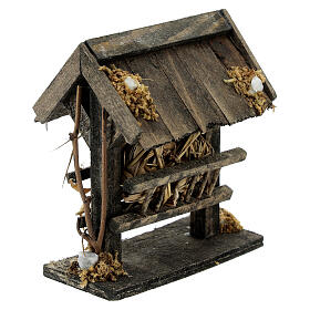 Comedero madera pajizo 10x5x10 belén 14-16 cm s3