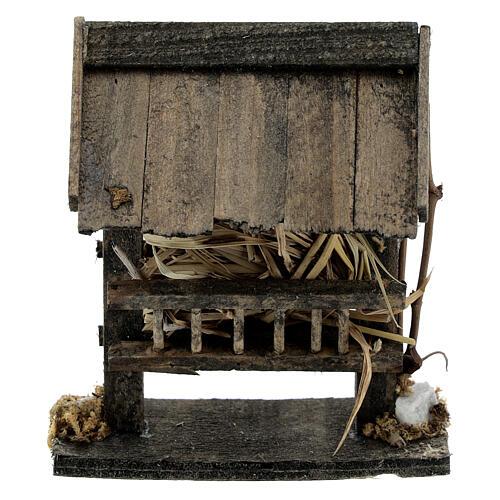 Comedero madera pajizo 10x5x10 belén 14-16 cm 4
