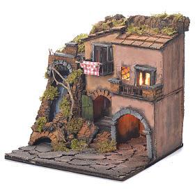 Village crèche Naples avec chutes d'eau style 1700 30x30x30 cm s3