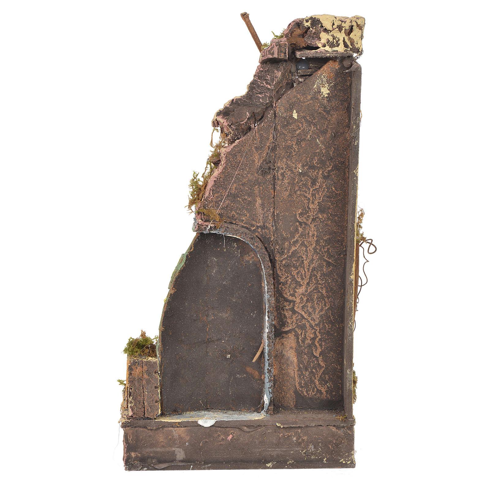 Temple ancien crèche liège 30x15x12 cm 4