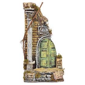 Temple ancien crèche liège 30x15x12 cm s1