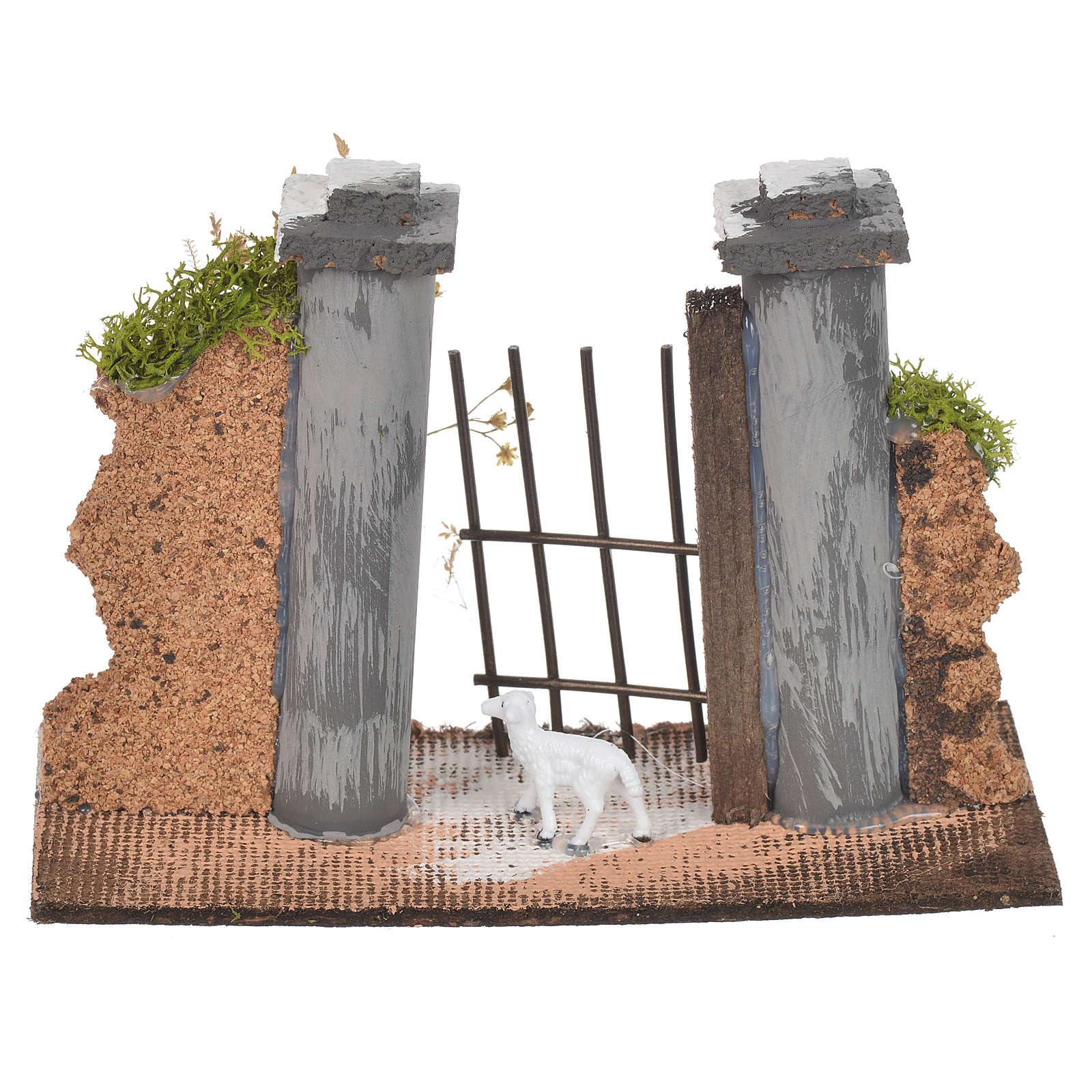Paroi en liège avec portail 11x16x5 cm 4