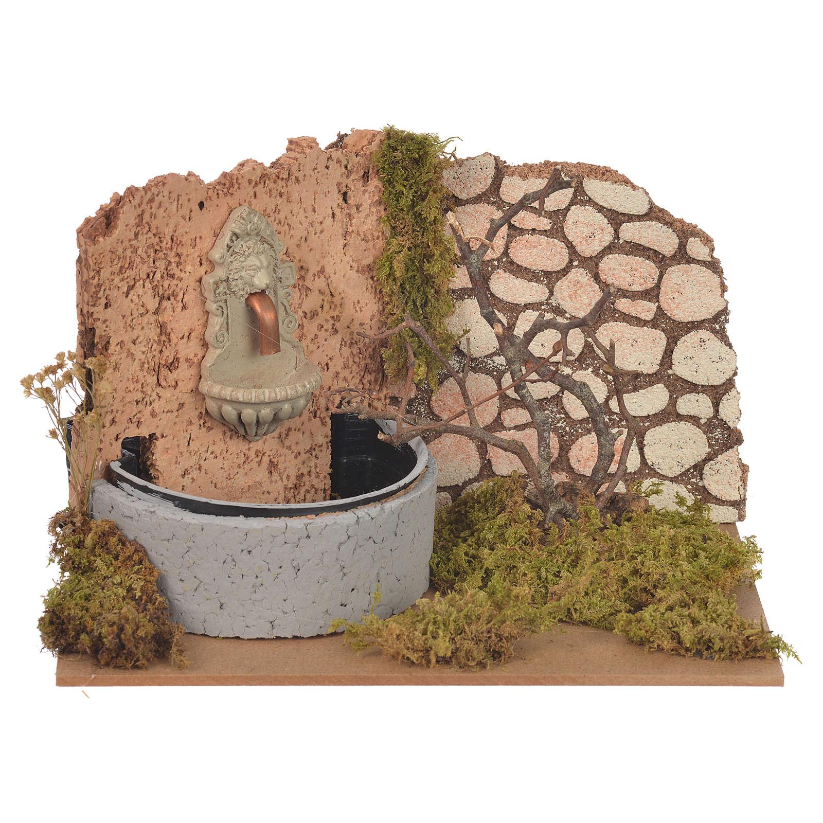 Fontana con pompa elettrica 14x20x12 cm 4