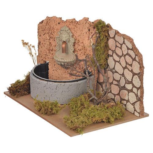 Fontana con pompa elettrica 14x20x12 cm 2