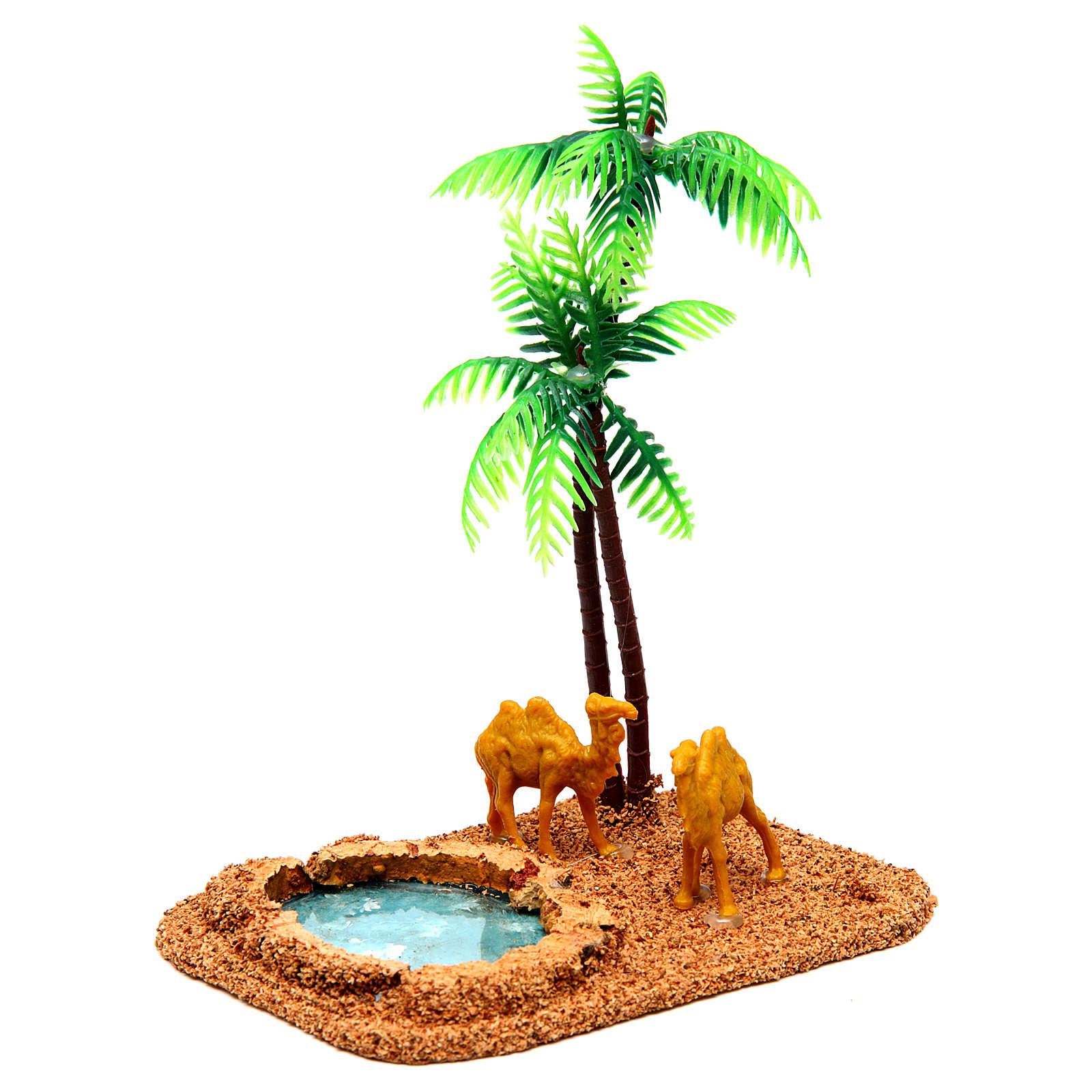 Wielbłądy i palmy otoczenie szopki 4