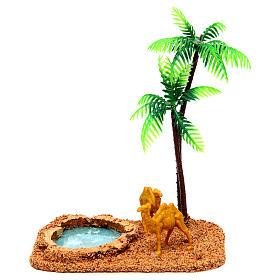Wielbłądy i palmy otoczenie szopki s1