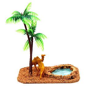 Camelos e palmeiras cenário presépio s4