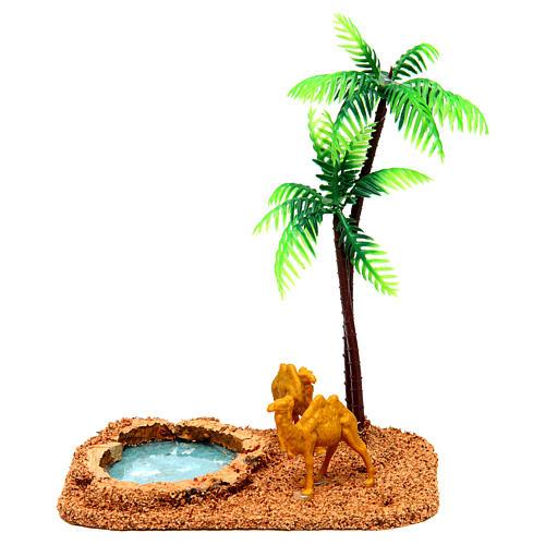 Camelos e palmeiras cenário presépio 1