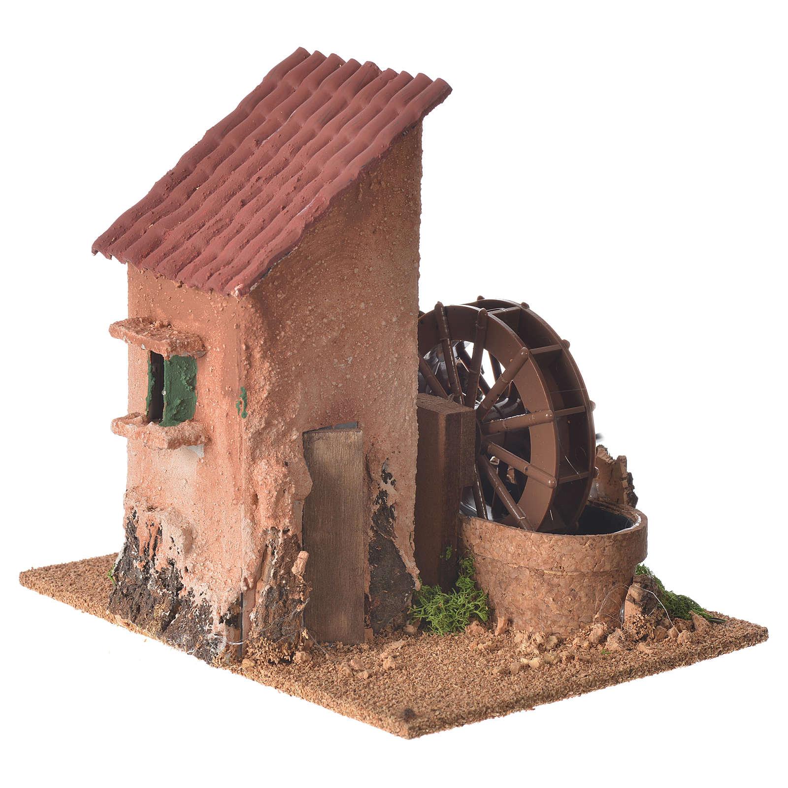 Moulin à eau 20x20x15 cm crèche 4