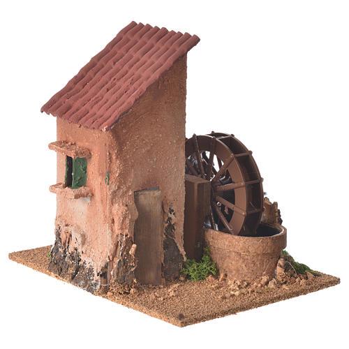 Moulin à eau 20x20x15 cm crèche 1