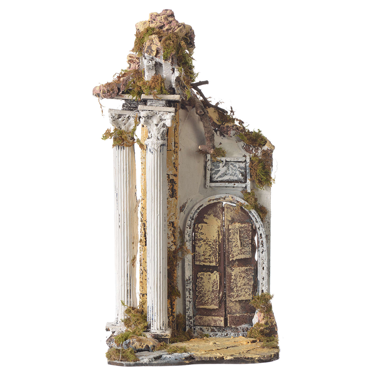 Tempio colonne e arco 30x15x12 cm 4