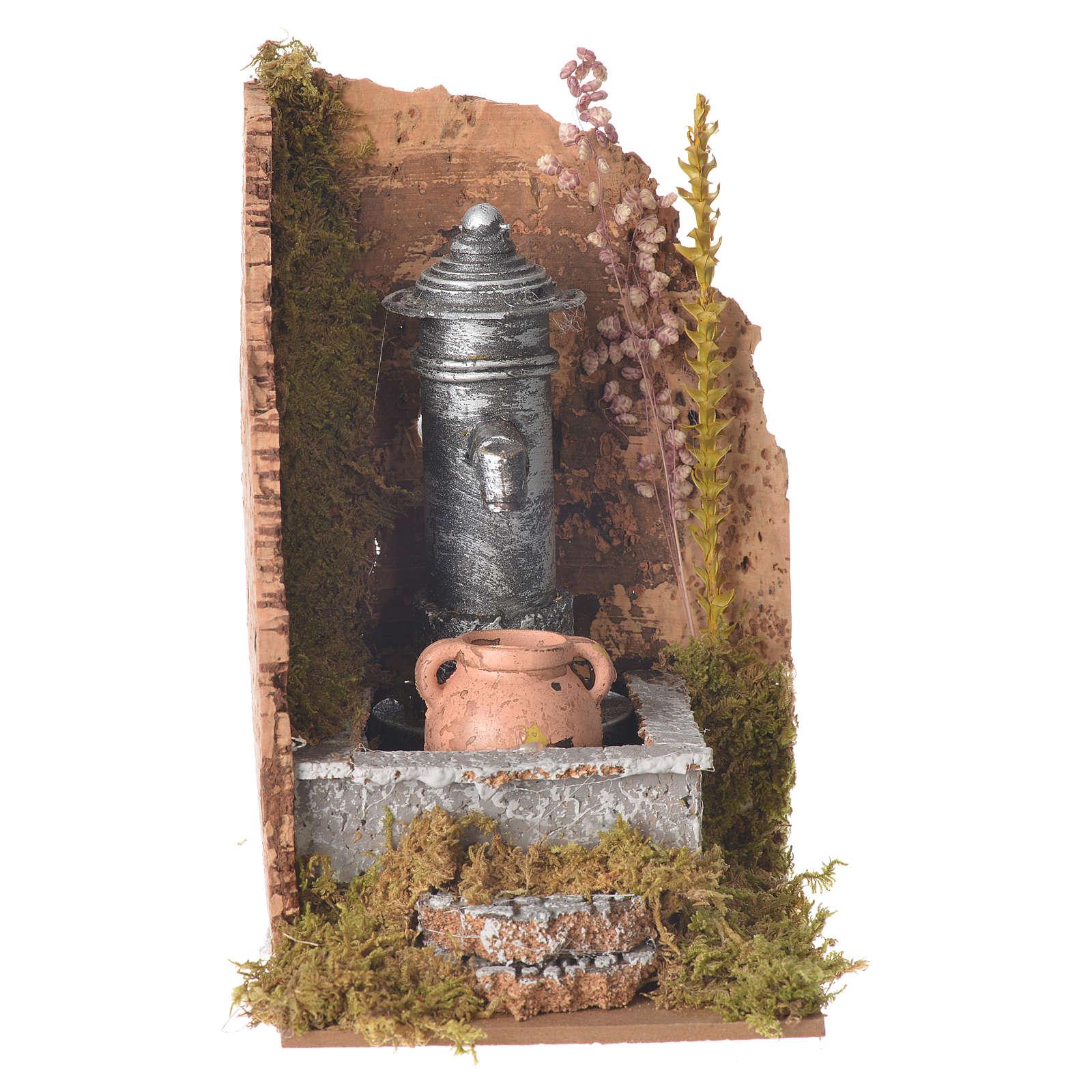 Fontanna do szopki Nasone 16x10x15 cm 4