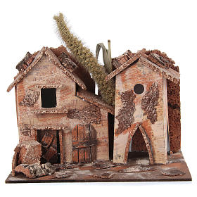 Settings, houses, workshops, wells: Farmhouse for nativities 20x16x15cm, assorted models
