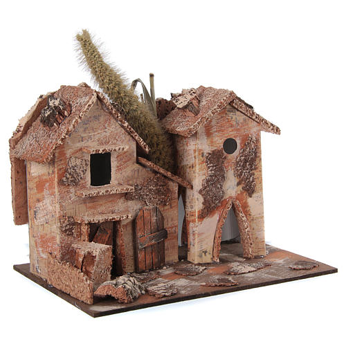 Farmhouse for nativities 20x16x15cm, assorted models 3