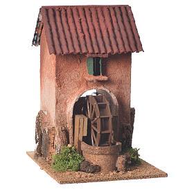Maison avec moulin à eau crèche 23x15x20 cm s1