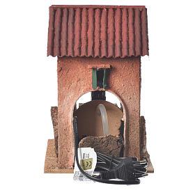 Maison avec moulin à eau crèche 23x15x20 cm s3
