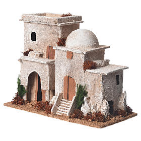 Double minaret for nativities with setting measuring 13x20x10cm s3