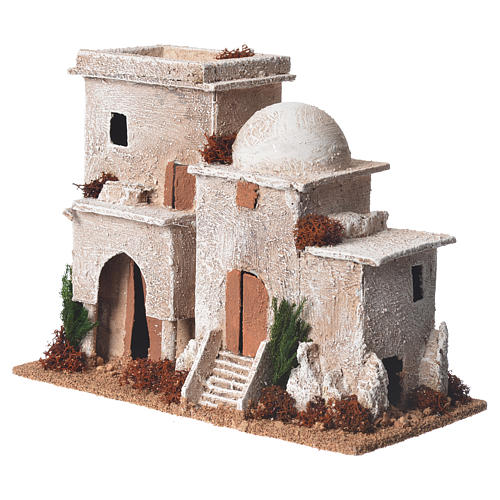 Double minaret for nativities with setting measuring 13x20x10cm 3