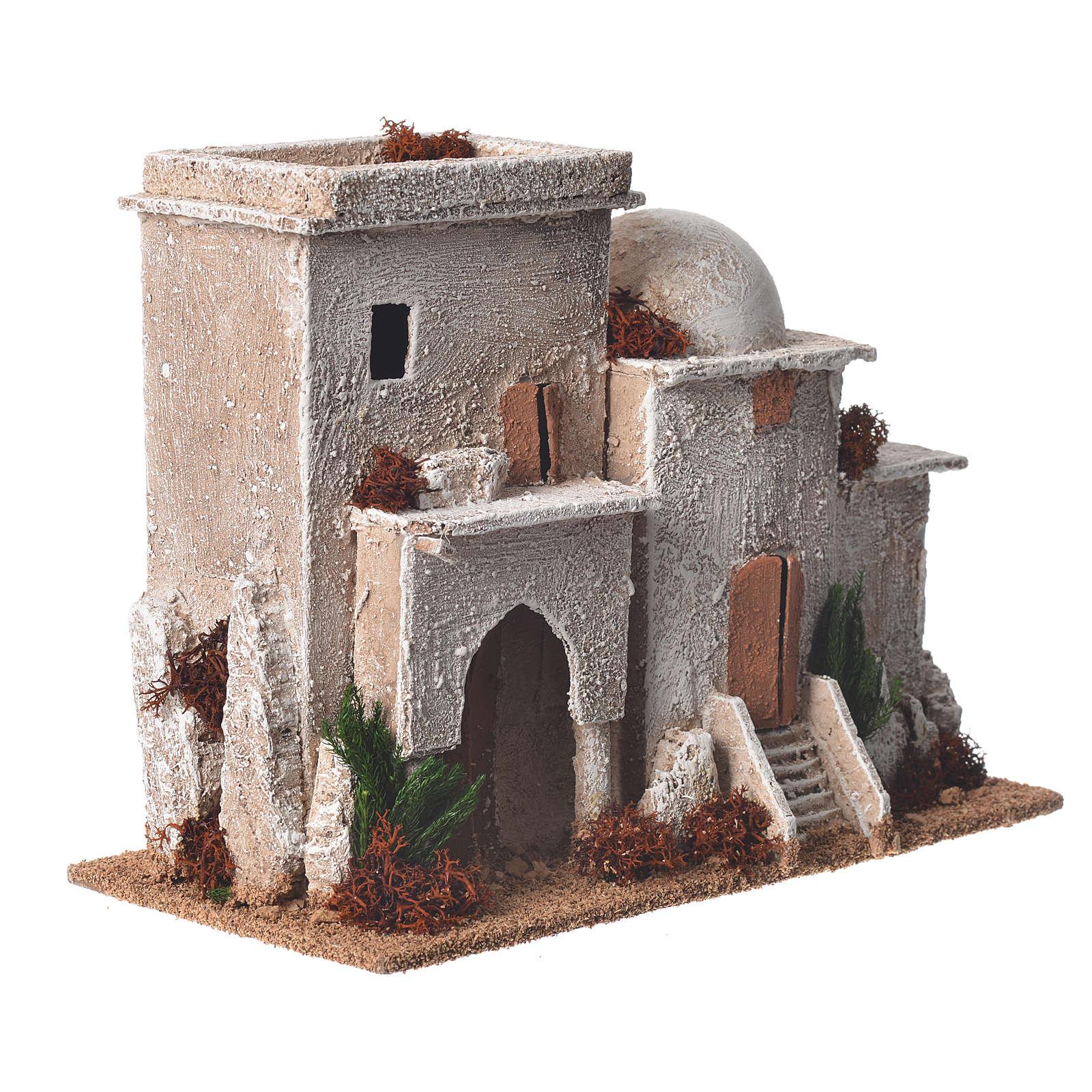 Minareto doppio ambientazione presepe 13x20x10 cm 4