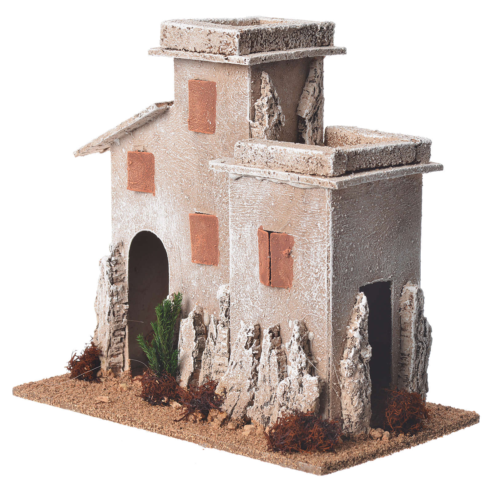 Arabian minaret for nativities with setting measuring 17x15x12cm 4