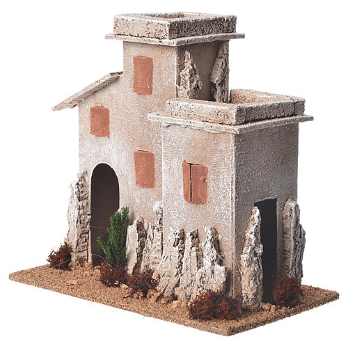 Arabian minaret for nativities with setting measuring 17x15x12cm 3