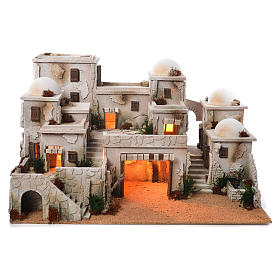 Stables and grottos: Arabian setting complete with stable 42x70x50cm, illuminated.