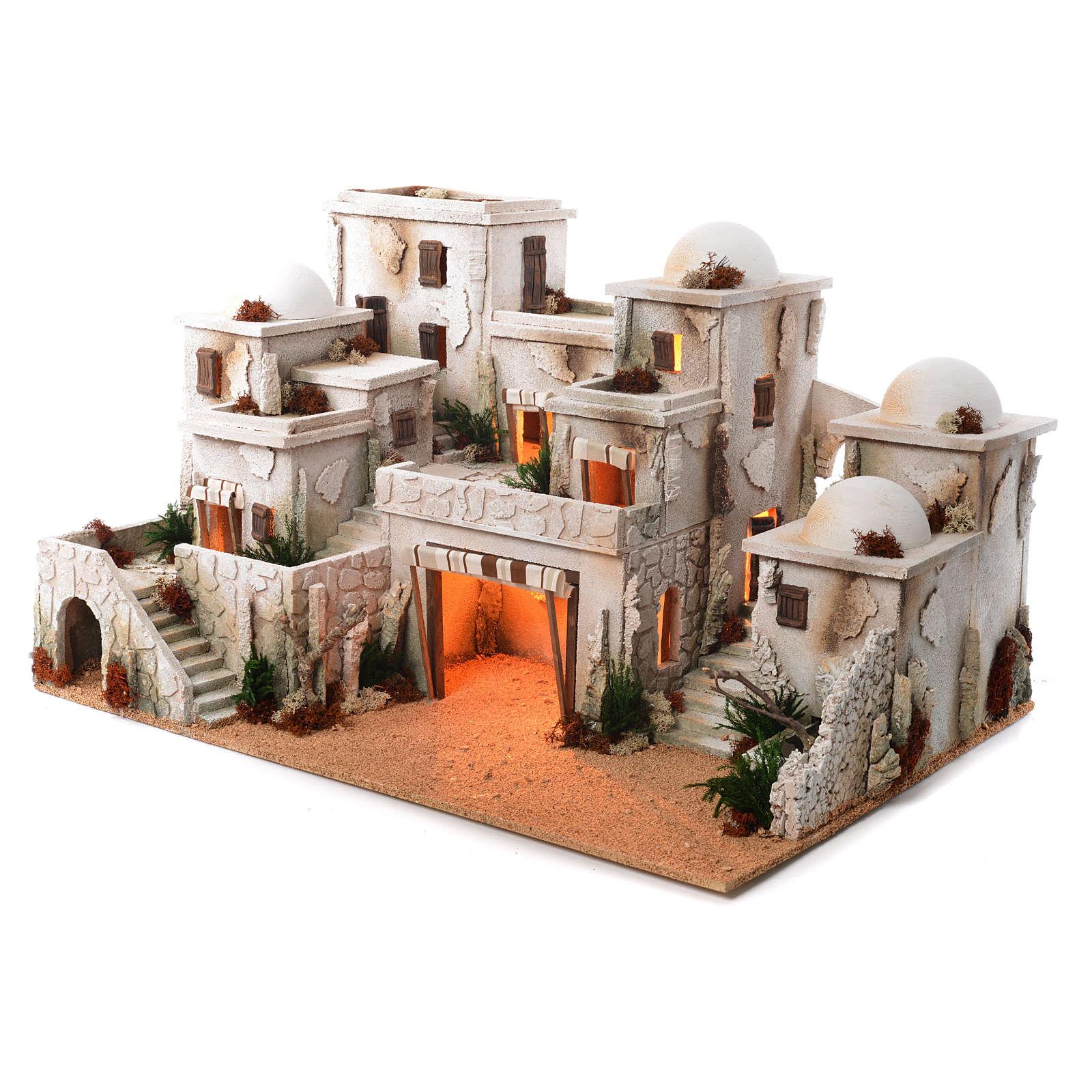 Borgo arabo completo con capanna 42x70x50 cm 4
