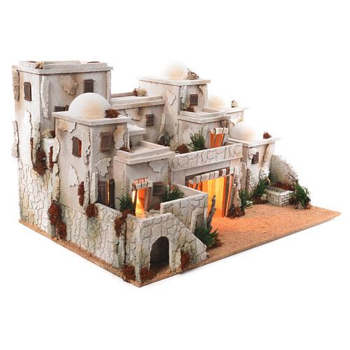 Borgo arabo completo con capanna 42x70x50 cm 2
