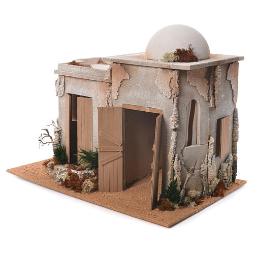 Nativity setting, double minaret with stable 46x60x40cm 3