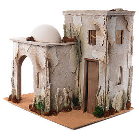 Nativity setting, minaret with stable 50x45x60cm s3