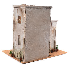 Nativity setting, minaret with stable 50x45x60cm s4