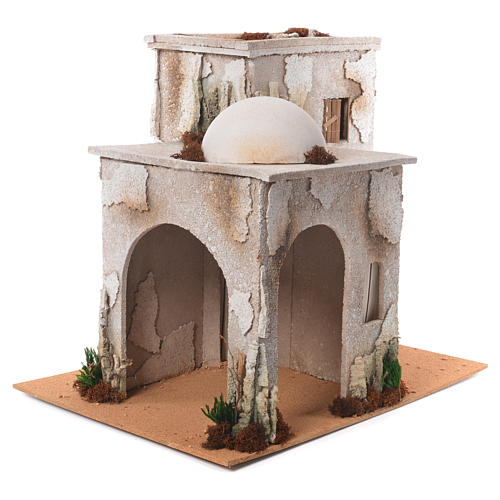 Nativity setting, minaret with stable 50x45x60cm 2