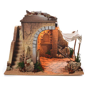 Stables and grottos: Arabian nativity stable 35x50x35cm