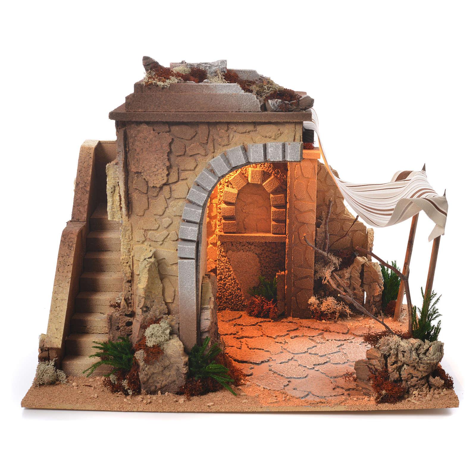Cabane arabe crèche 35x50x35 cm 4