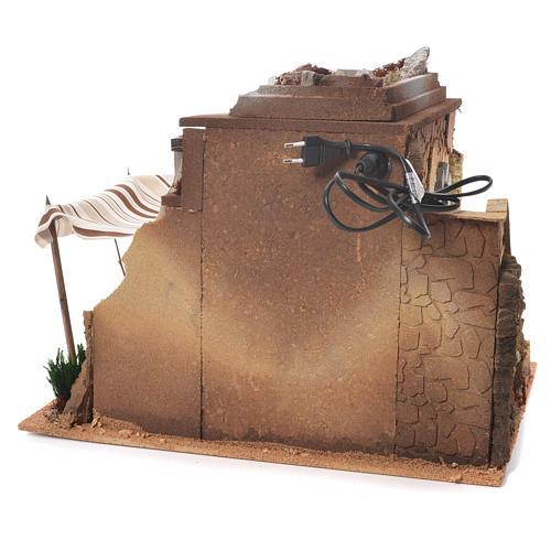 Capanna araba presepe 35x50x35 cm 3