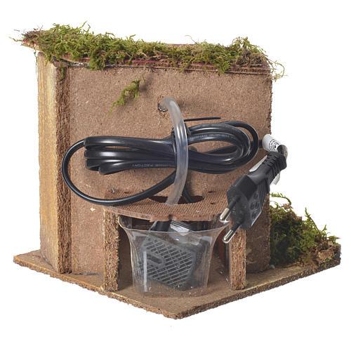 Fontana presepe 2,5watt con secchio 15x15x15 cm 3