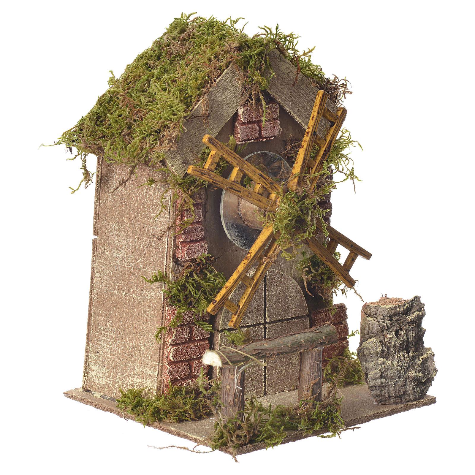 Mulino a vento carillon presepe 5/6cm 4