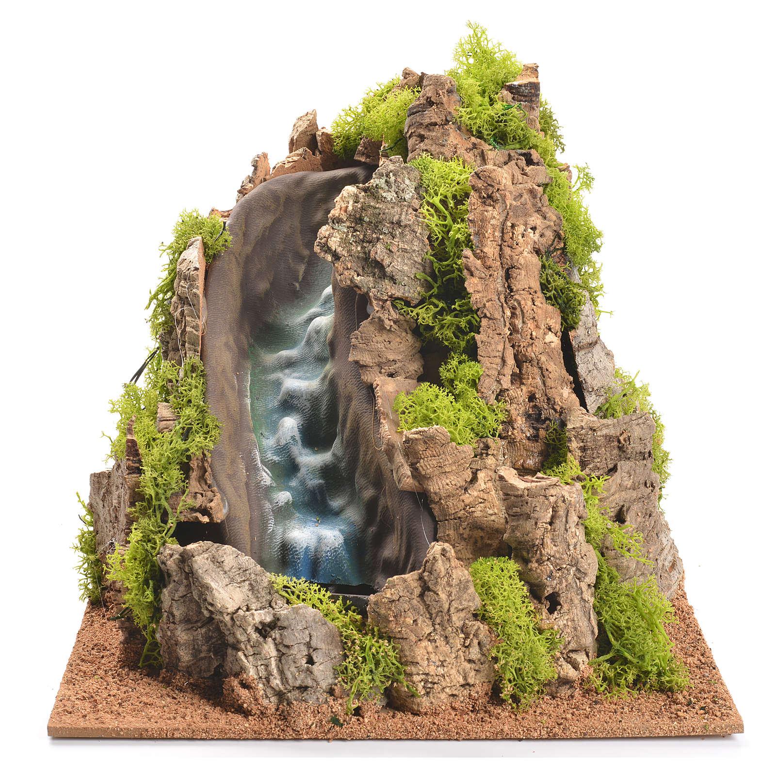 Nativity setting, waterfall with stream 25x29x29cm 4
