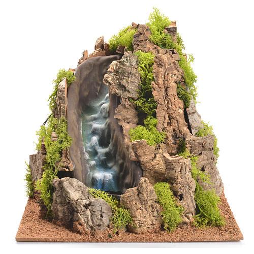 Nativity setting, waterfall with stream 25x29x29cm 1