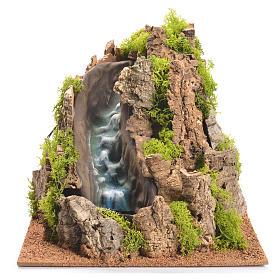 Pontes, Rios, Paliçadas : Cascada ribeira para presépio 25x29x29 cm