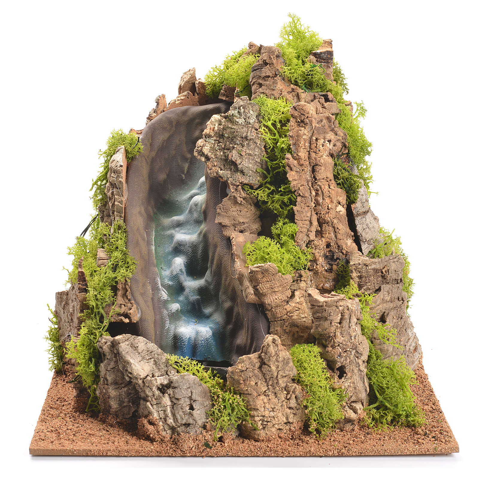 Nativity setting, waterfall with stream 25x29x29cm 4