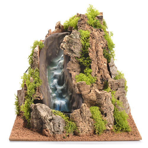 Nativity setting, waterfall with stream 25x29x29cm 1