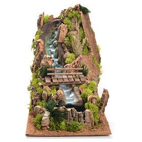 Cascata con fiume presepe 35x25x54 cm s1